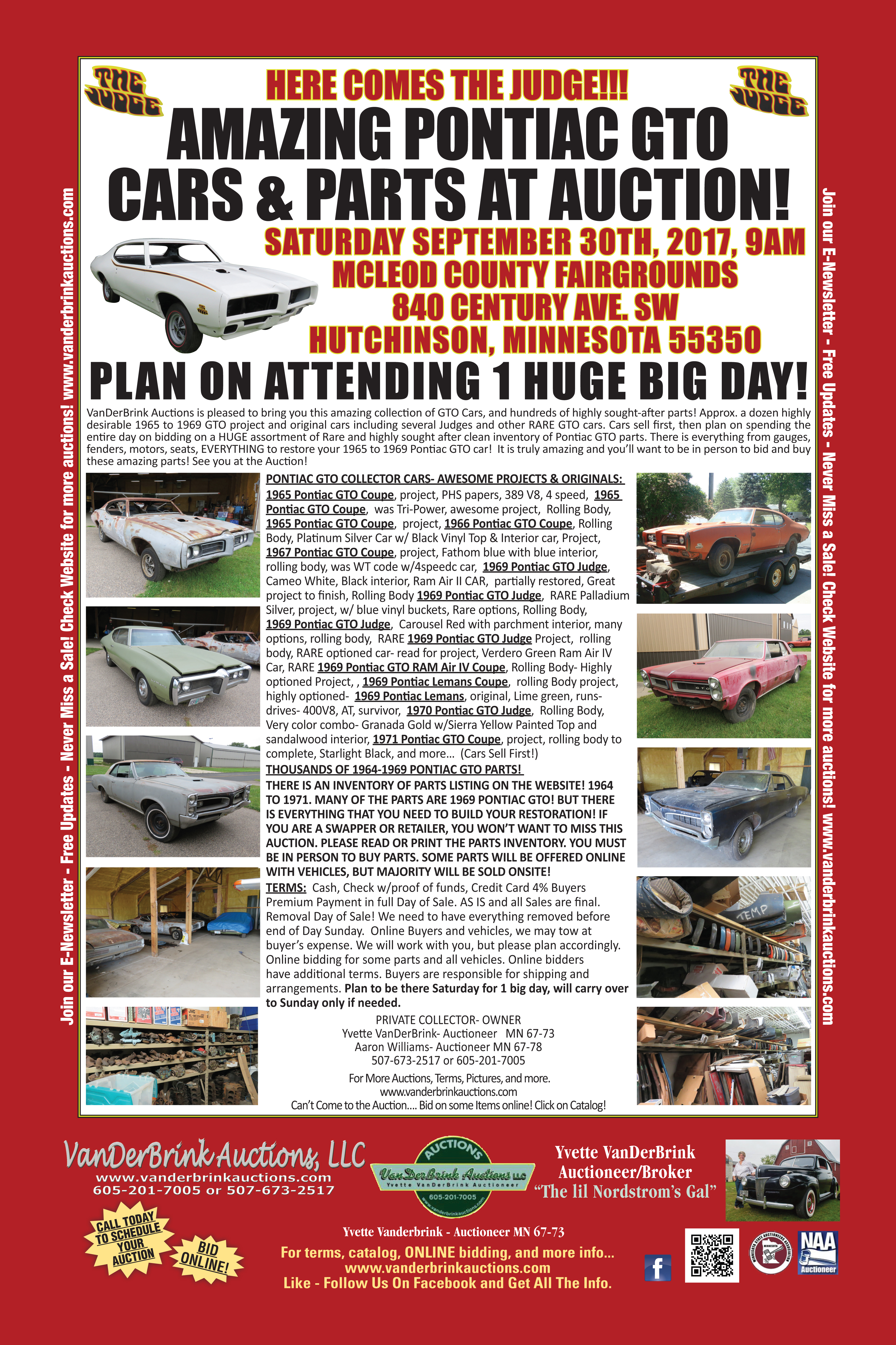 Amazing GTO Cars And Parts At Auction in Hutchinson, Minnesota by ...